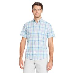Big & Tall IZOD Regular-Fit Plaid Chambray Button-Down Shirt