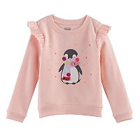 Toddler Girl Jumping Beans® Animal Applique Ruffled Fleece Pullover