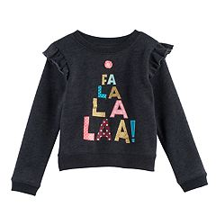 Toddler Girl Jumping Beans® 'Fa La La La' Graphic Fleece Pullover