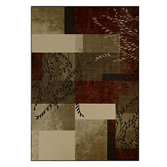 Maples Highland Swindon Leaf Block Rug