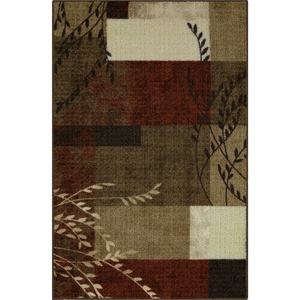 Maples Highland Textured Print Multicolor Area & Washable Throw Rugs
