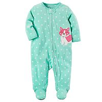 Baby Girl Carter's Polka-Dot Microfleece Sleep & Play