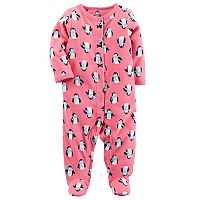 Baby Girl Carter's Print Microfleece Sleep & Play