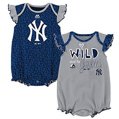 Baby Majestic New York Yankees Sparkle 2-Pack Bodysuit Set