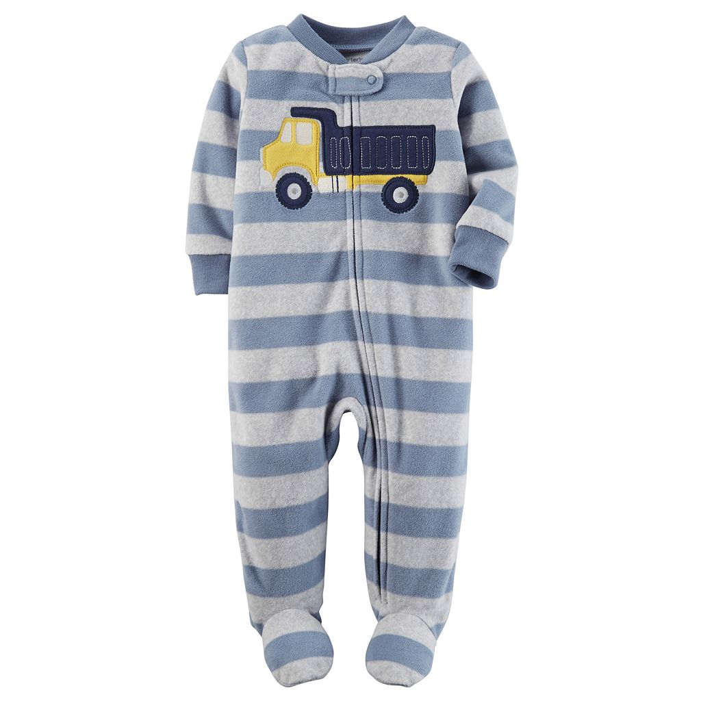 Baby Boy Carter's Embroidered Striped Sleep & Play