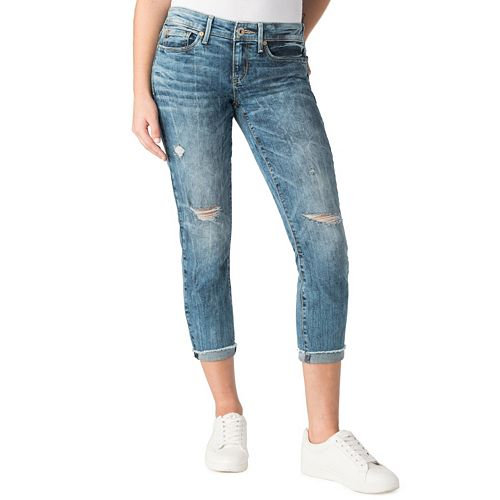 Juniors' DENIZEN from Levi's® Ripped Frayed Crop Jeans