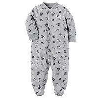 Baby Boy Carter's Print Patch Microfleece Sleep & Play