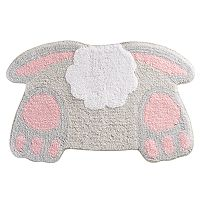 Celebrate Easter Together Bunny Tail Bath Rug