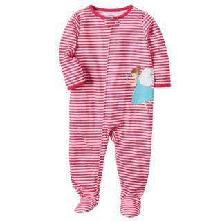 Toddler Girl Carter's Striped Applique Sleep & Play