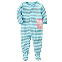 Toddler Girl Carter's Striped Applique Sleep & Play