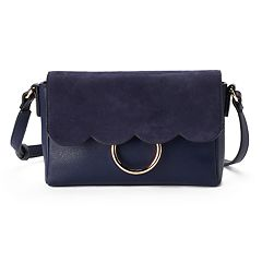 LC Lauren Conrad Poesie Scalloped Flap Crossbody Bag