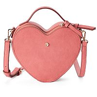 LC Lauren Conrad Heart-Shaped Crossbody Bag