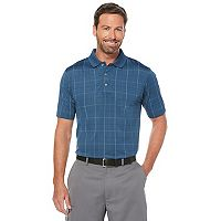 Men's Grand Slam Regular-Fit Motionflow 360 Striped Jacquard Performance Golf Polo