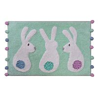 Celebrate Easter Together Bunnies Bath Rug