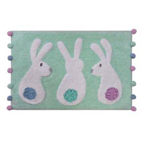 Celebrate Easter Together Bunnies Bath Rug