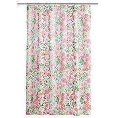 Celebrate Spring Together Watercolor Floral Shower Curtain