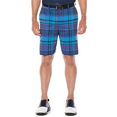 Men's Jack Nicklaus Regular-Fit StayDri Madras Plaid Golf Shorts