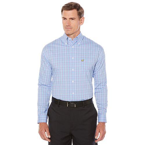 Men's Jack Nicklaus Regular-Fit StayMotion Glen Plaid Button-Down Shirt