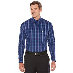 Men's Jack Nicklaus Regular-Fit StayMotion Plaid Button-Down Shirt