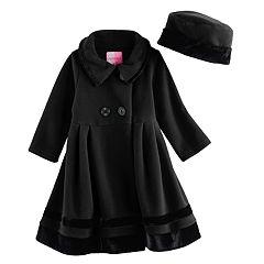 Toddler Girl Sophie Rose Microfleece Coat & Hat Set