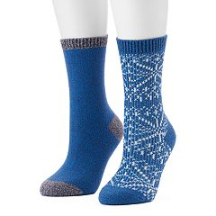 Women's Columbia 2-pk. Snowflake Crew Socks