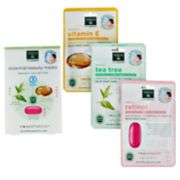 Earth Therapeutics 3-pk. Retinol, Tea Tree and Vitamin E Face Masks Set