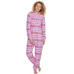 Juniors' SO® Plush One-Piece Pajamas