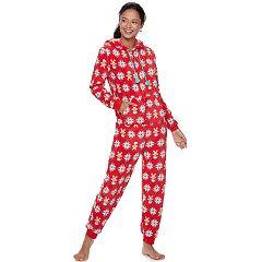 Juniors' SO® Plush One-Piece Pajamas