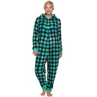 Juniors' Plus Size SO® Plush One-Piece Pajamas