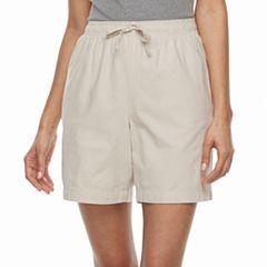 Petite Gloria Vanderbilt Lucy Drawstring Shorts