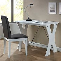 Baxton Studio Cary Modern Desk & Chair 2-piece Set