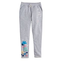 Girls 4-10 Jumping Beans® French Terry Cuffed Jogger Pants