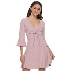 Juniors' Almost Famous Bell-Sleeve Skater Dress