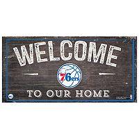 Philadelphia 76ers Welcome Sign Wall Art