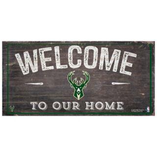 Milwaukee Bucks Welcome Sign Wall Art