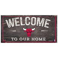 Chicago Bulls Welcome Sign Wall Art