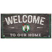 Boston Celtics Welcome Sign Wall Art