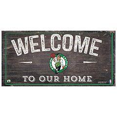 Boston Celtics Welcome Sign Wall Art