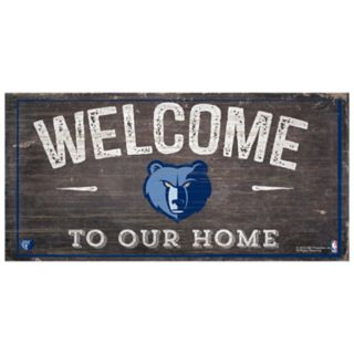 Memphis Grizzlies Welcome Sign Wall Art