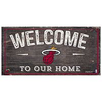Miami Heat Welcome Sign Wall Art
