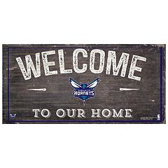 Charlotte Hornets Welcome Sign Wall Art