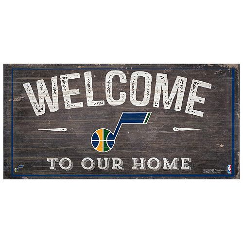 Utah Jazz Welcome Sign Wall Art