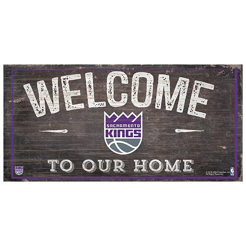Sacramento Kings Welcome Sign Wall Art