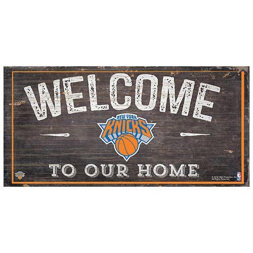 New York Knicks Welcome Sign Wall Art