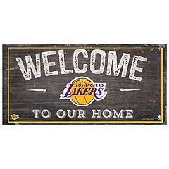 Los Angeles Lakers Welcome Sign Wall Art