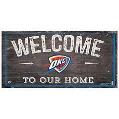 Oklahoma City Thunder Welcome Sign Wall Art