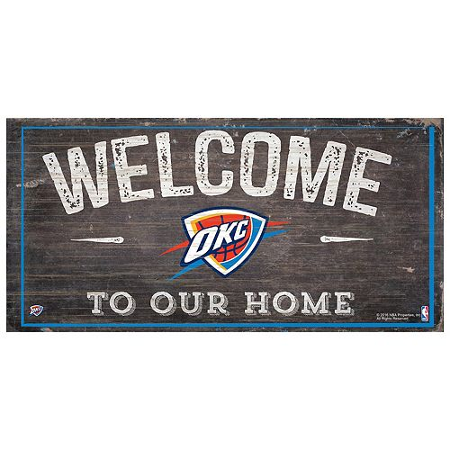 Oklahoma City Thunder Welcome Sign Wall Art