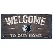 Minnesota Timberwolves Welcome Sign Wall Art