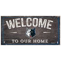 Minnesota Timberwolves Welcome Sign Wall Art