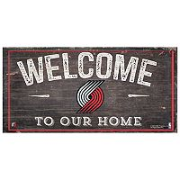 Portland Trail Blazers Welcome Sign Wall Art